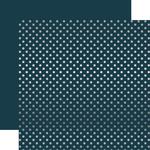 Navy Silver Foil Dot Paper - Echo Park