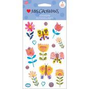 Butterflies & Blooms Sticker Sheet - Mrs Grossmans