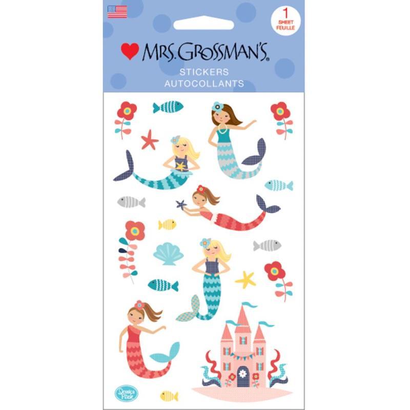 Merry Mermaids Sticker Sheet - Mrs Grossmans - Mrs. Grossmans - Stickers