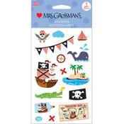 Ahoy Pirates Sticker Sheet - Mrs Grossmans
