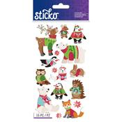 Holiday Sweater Animal Stickers - Sticko