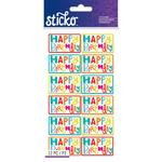 Birthday Sentiments Stickers - Sticko
