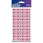 Mini Glitter Hearts Stickers - Sticko