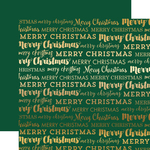 Green Merry Christmas Foil Paper - Carta Bella