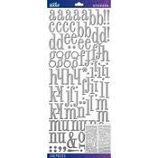 Silver Foil Fashion Dimensional Stickers - Sticko