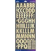Gold Foil Stripe Futura Dimensional Stickers - Sticko