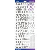 Silver Foil Futura Bold Stickers - Sticko