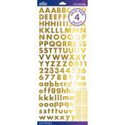 Gold Foil Futura Bold Stickers - Sticko