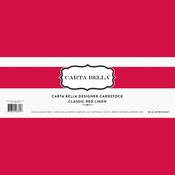 Classic Red Linen Designer Cardstock - Carta Bella
