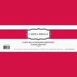 Classic Red Felt Designer Cardstock - Carta Bella