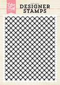 Diagonal Plaid A2 Background Stamp Set - Echo Park