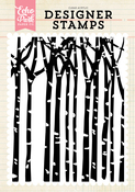 Winter Trees A2 Background Stamp Set - Echo Park