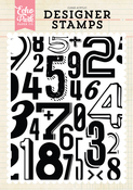 Subway Numbers A2 Background Stamp Set - Echo Park