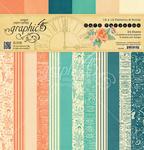 Cafe Parisian Patters & Solids 12 x 12 Paper Pad - Graphic 45