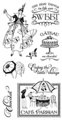 Cafe Parisian Stamp Set 1 - Graphic 45