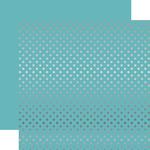 Light Blue Silver Foil Dot Paper - Echo Park