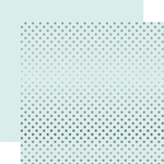 Ice Blue Silver Foil Dot Paper - Echo Park
