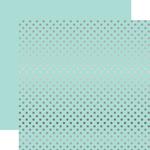 Arctic Silver Foil Dot Paper - Echo Park
