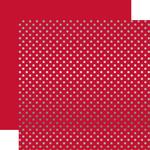 Cranberry Silver Foil Dot Paper - Echo Park