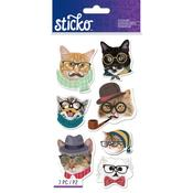 Hipster Cats Stickers - Sticko