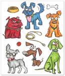 Crazy Dogs Framelits Dies - Tim Holtz