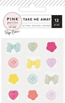 Take Me Away Buttons - Pink Paislee