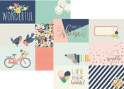 4 x 6 Journaling Card Elements Foil Paper - Posh - Simple Stories