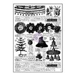 Newspaper, Sweet Peppermint 3x4 Clear Stamp - Prima