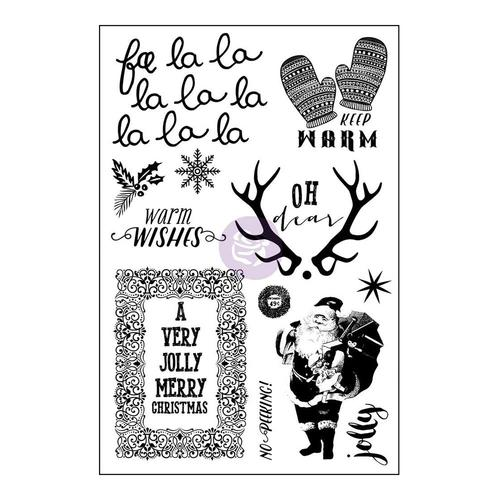 Sweet Peppermint 4x6 Cling Stamp - Prima
