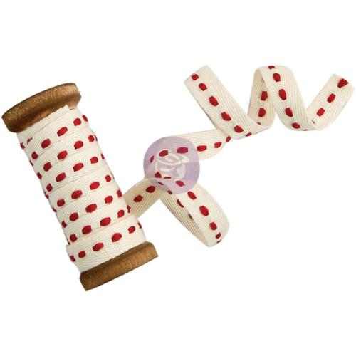 Holiday Stitches Trim - Sweet Peppermint - Prima