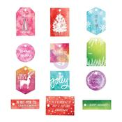 Sweet Peppermint Watercolor Resist Tags - Prima