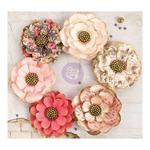 Hazelbrook Paper Flowers, 6/pkg - Rossi Belle - Prima