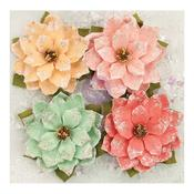 First Snowfall Flowers, 4/pkg - Sweet Peppermint - Prima