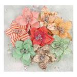 Holiday Carols Flowers, 8/pkg - Sweet Peppermint - Prima