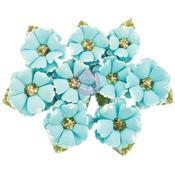 Boreal Flowers W/Beads & Flocking 9/Pkg - Prima