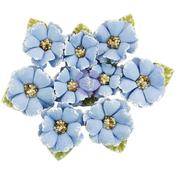 South Island Flowers W/Beads & Flocking 9/Pkg - Prima