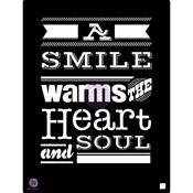 A Smile Warms The Heart And Soul 9.5x12 Stencil - Prima