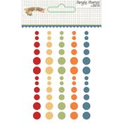 Hello Fall Enamel Dots - Simple Stories