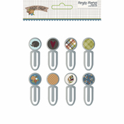 Hello Fall Epoxy Metal Clips - Simple Stories