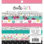 Cute Girl 6 x 6 Paper Pad - Cute Girl - Crate Paper