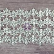 Silver Star Chain Paper Trim - Dresden - Relics & Artifacts - Prima