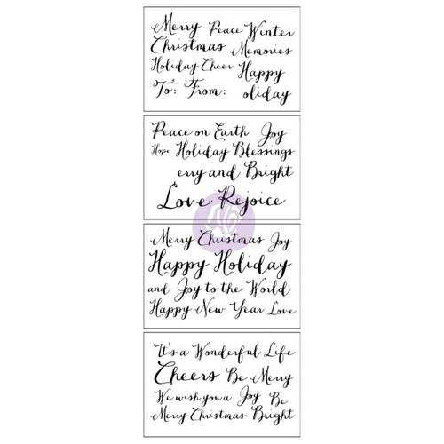 Holiday Greetings Adhesive Rub-Ons - Prima