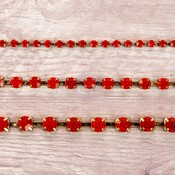 Ruby Rhinestone Chain Pack - Prima