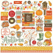 Falling Leaves Element Stickers - Photoplay