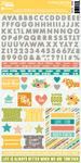 Hardy Hodgepodge Cardstock Sticker Sheet - Jillibean Soup
