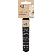 Black - Art-C Heavy Body Gloss Acrylic Paint 30ml