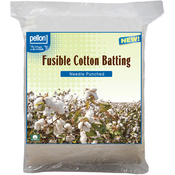"Craft Size 34""X45"" FOB: MI - Pellon Fusible Cotton Batting"