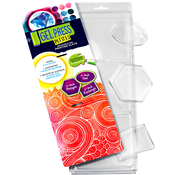 Oval, Hexagon, Rectangle - PolyGel Gel Plate Petites 3/Pkg
