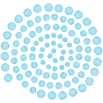 Blue Iceberg - Couture Creations Self-Adhesive Gemstones 100/Pkg