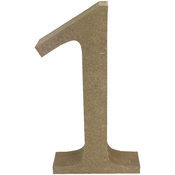 Serif Number 1 - Smooth MDF Blank Shape